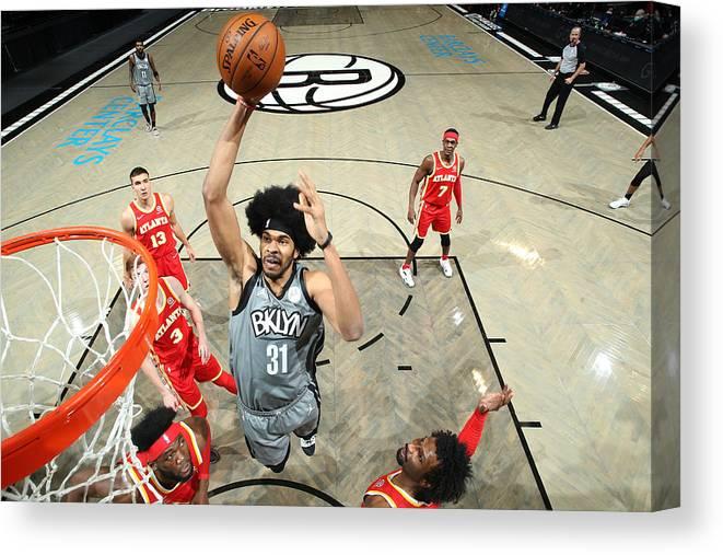 Nba Pro Basketball Canvas Print featuring the photograph Jarrett Allen by Nathaniel S. Butler