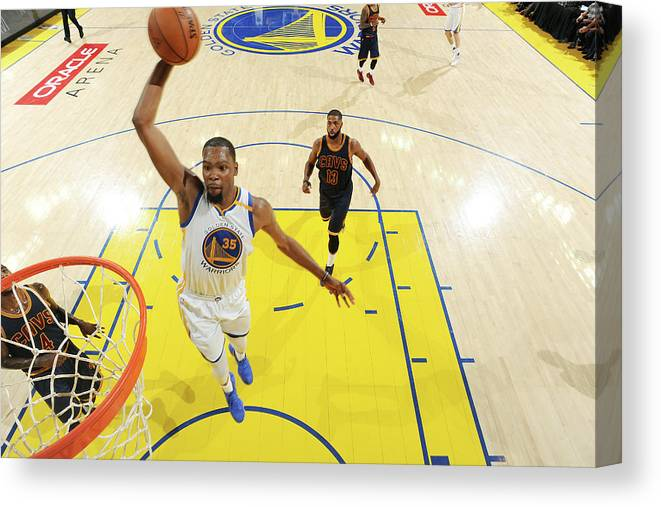 Playoffs Canvas Print featuring the photograph Kevin Durant by Andrew D. Bernstein