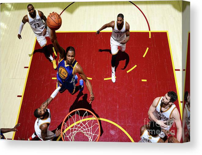Playoffs Canvas Print featuring the photograph Kevin Durant by Jesse D. Garrabrant