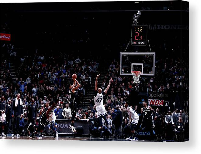 Nba Pro Basketball Canvas Print featuring the photograph Spencer Dinwiddie by Nathaniel S. Butler
