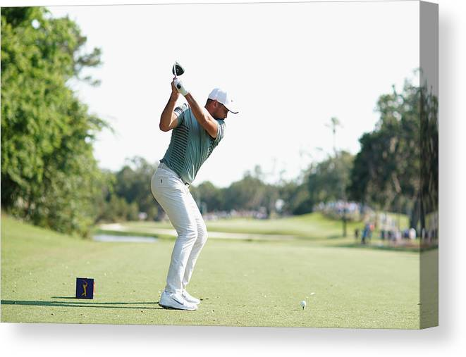 People Canvas Print featuring the photograph THE PLAYERS Championship - Round One by Richard Heathcote