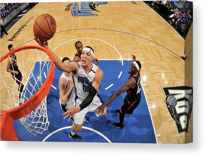 Playoffs Canvas Print featuring the photograph Aaron Gordon by Fernando Medina