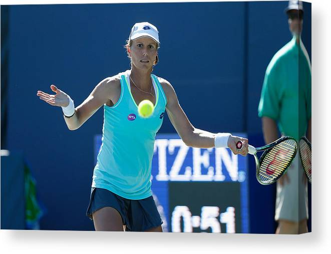 Tennis Canvas Print featuring the photograph Bank of the West Classic - Day 2 by Lachlan Cunningham