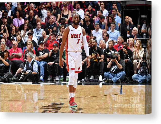 Nba Pro Basketball Canvas Print featuring the photograph Dwyane Wade by Jesse D. Garrabrant