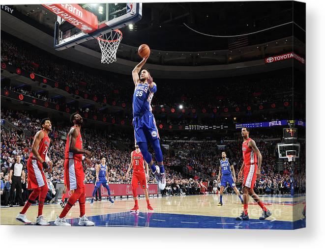 Nba Pro Basketball Canvas Print featuring the photograph Ben Simmons by Jesse D. Garrabrant