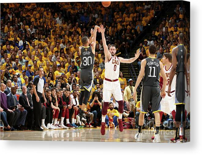 Playoffs Canvas Print featuring the photograph Stephen Curry by Nathaniel S. Butler