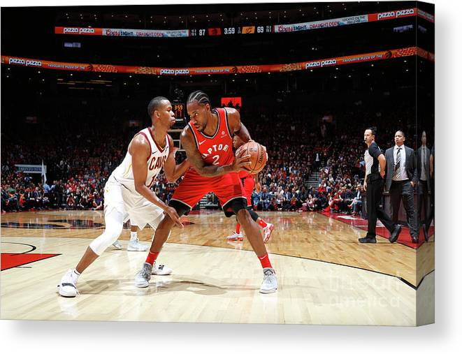 Nba Pro Basketball Canvas Print featuring the photograph Kawhi Leonard by Mark Blinch
