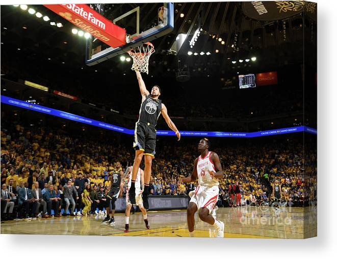 Playoffs Canvas Print featuring the photograph Klay Thompson by Noah Graham