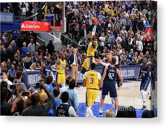 Nba Pro Basketball Canvas Print featuring the photograph Lebron James by Jesse D. Garrabrant