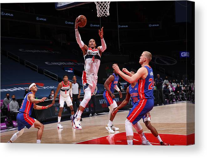 Nba Pro Basketball Canvas Print featuring the photograph Russell Westbrook by Ned Dishman