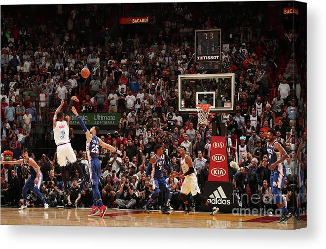 Nba Pro Basketball Canvas Print featuring the photograph Dwyane Wade by Issac Baldizon