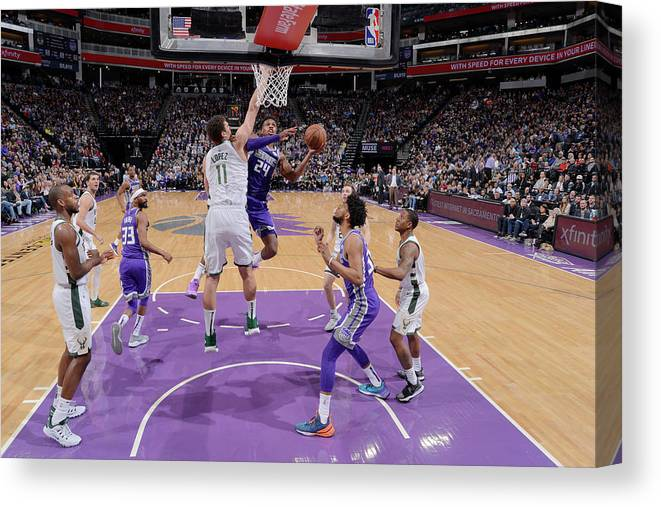 Nba Pro Basketball Canvas Print featuring the photograph Buddy Hield by Rocky Widner