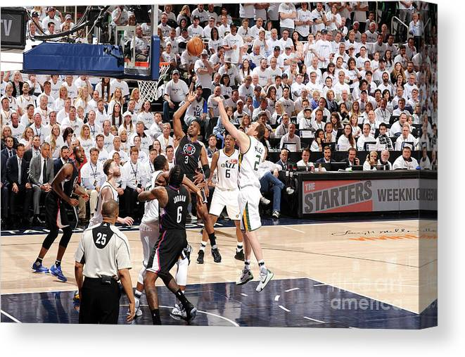 Playoffs Canvas Print featuring the photograph Chris Paul by Andrew D. Bernstein