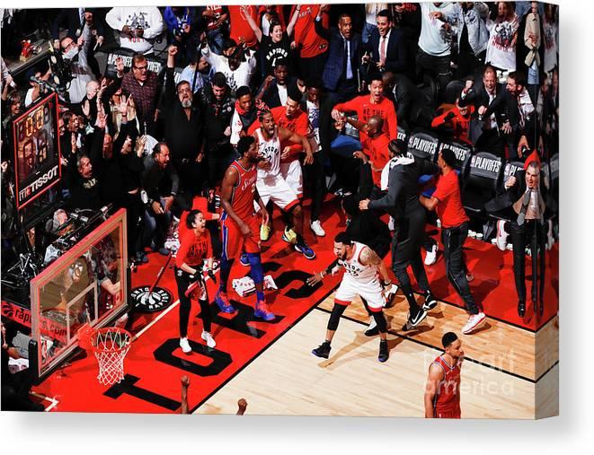 Playoffs Canvas Print featuring the photograph Kawhi Leonard by Mark Blinch