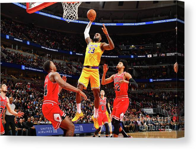 Nba Pro Basketball Canvas Print featuring the photograph Lebron James by Jesse D. Garrabrant