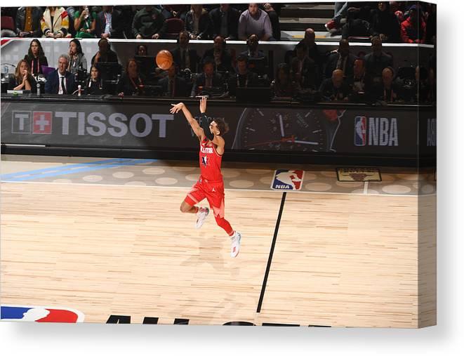 Nba Pro Basketball Canvas Print featuring the photograph 69th NBA All-Star Game by Garrett Ellwood