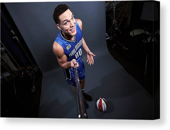 Event Canvas Print featuring the photograph Aaron Gordon by Jennifer Pottheiser