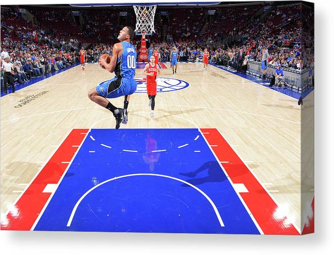 Nba Pro Basketball Canvas Print featuring the photograph Aaron Gordon by Jesse D. Garrabrant