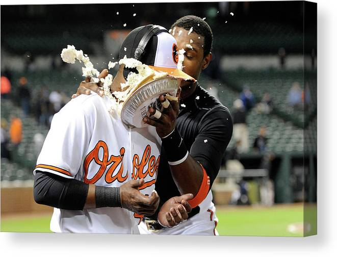 People Canvas Print featuring the photograph Adam Jones by Greg Fiume