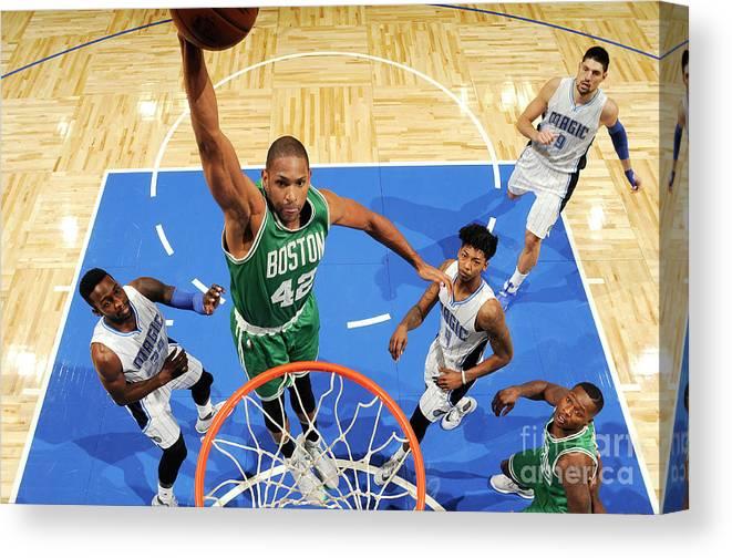 Nba Pro Basketball Canvas Print featuring the photograph Al Horford by Fernando Medina