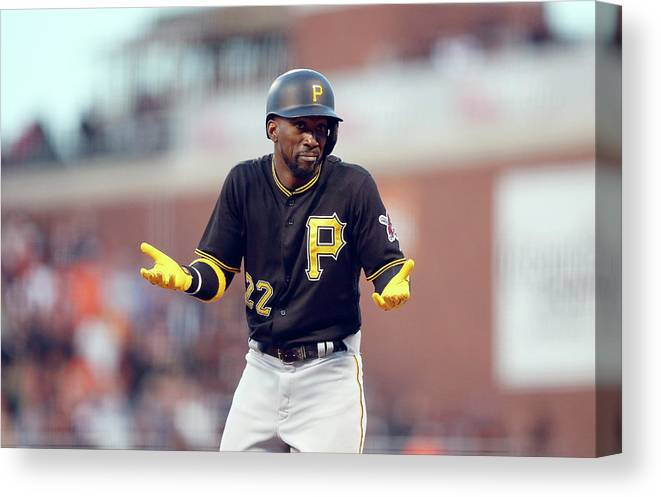 San Francisco Canvas Print featuring the photograph Andrew Mccutchen by Ezra Shaw