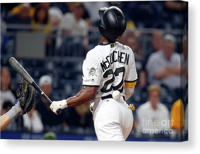 Three Quarter Length Canvas Print featuring the photograph Andrew Mccutchen by Justin K. Aller