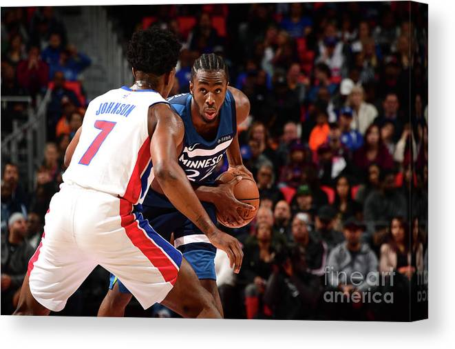 Sport Canvas Print featuring the photograph Andrew Wiggins by Chris Schwegler