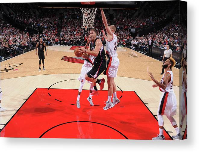 Nba Pro Basketball Canvas Print featuring the photograph Blake Griffin by Sam Forencich