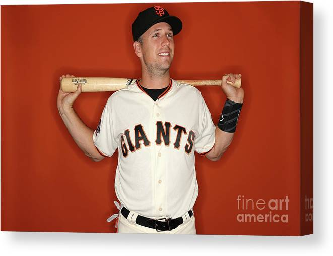 Media Day Canvas Print featuring the photograph Buster Posey by Patrick Smith
