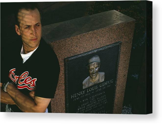 People Canvas Print featuring the photograph Cal Ripken by Ronald C. Modra/sports Imagery