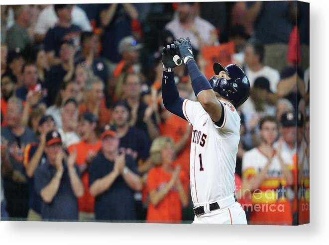 Game Two Canvas Print featuring the photograph Carlos Correa by Elsa