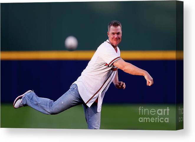 Atlanta Canvas Print featuring the photograph Chipper Jones by Kevin C. Cox