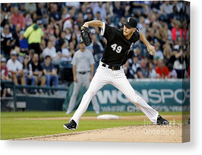 Second Inning Canvas Print featuring the photograph Chris Sale by Jon Durr