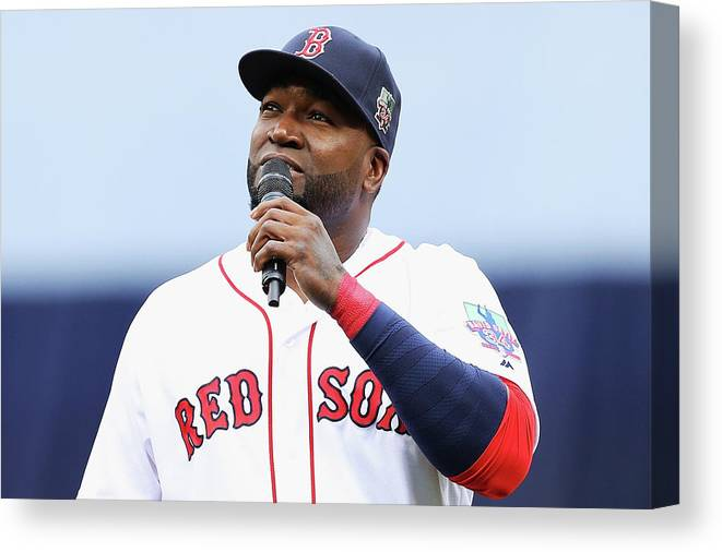 Crowd Canvas Print featuring the photograph David Ortiz by Maddie Meyer