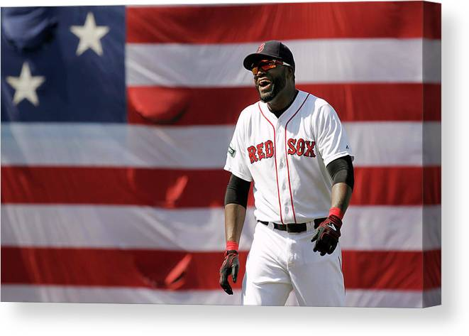 American League Baseball Canvas Print featuring the photograph David Ortiz by Winslow Townson