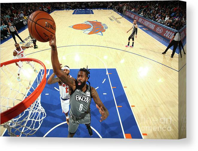 Nba Pro Basketball Canvas Print featuring the photograph Deandre Jordan by Nathaniel S. Butler