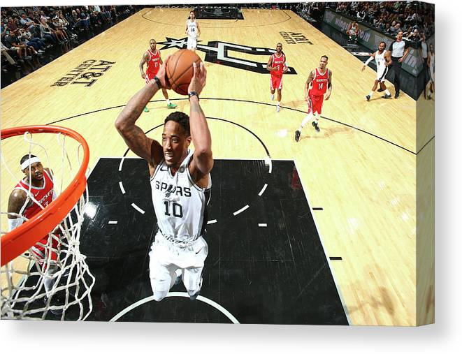 Nba Pro Basketball Canvas Print featuring the photograph Demar Derozan by Nathaniel S. Butler