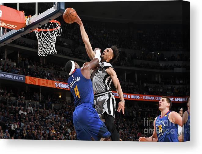 Playoffs Canvas Print featuring the photograph Derrick White by Garrett Ellwood