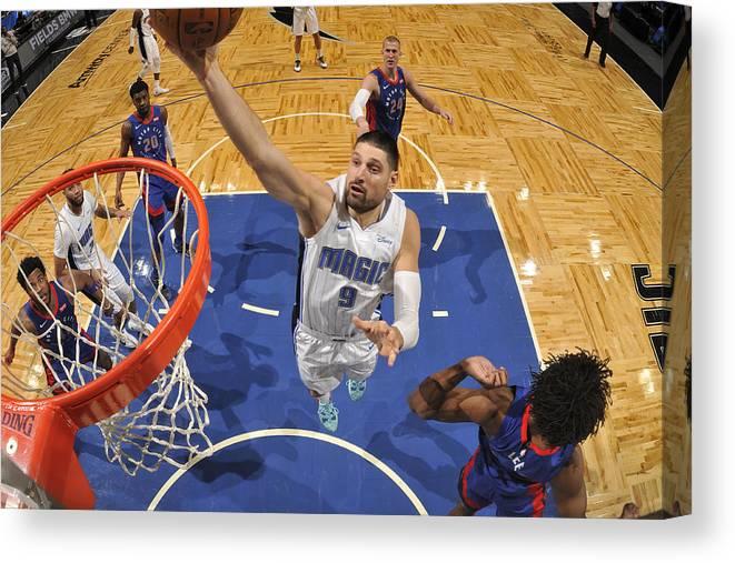 Nba Pro Basketball Canvas Print featuring the photograph Detroit Pistons v Orlando Magic by Fernando Medina