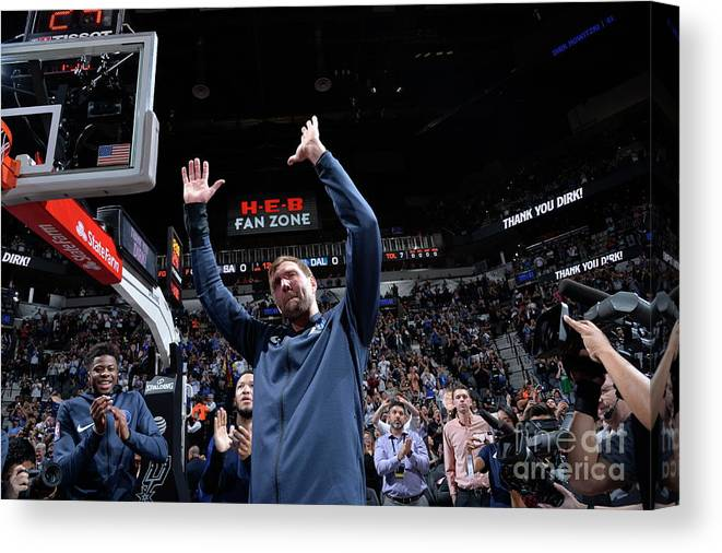 Nba Pro Basketball Canvas Print featuring the photograph Dirk Nowitzki by Mark Sobhani