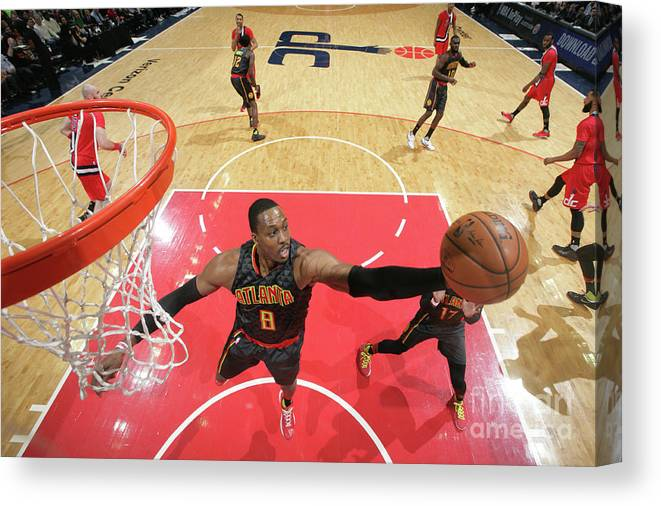 Nba Pro Basketball Canvas Print featuring the photograph Dwight Howard by Ned Dishman