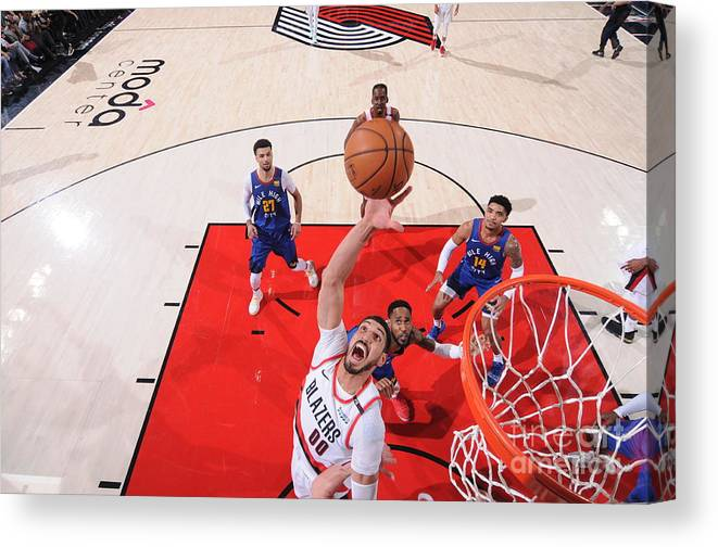 Nba Pro Basketball Canvas Print featuring the photograph Enes Kanter by Sam Forencich