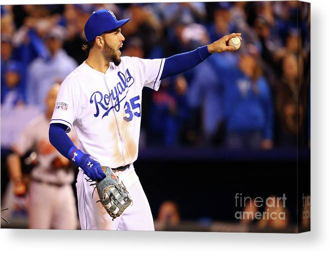 People Canvas Print featuring the photograph Eric Hosmer by Dilip Vishwanat
