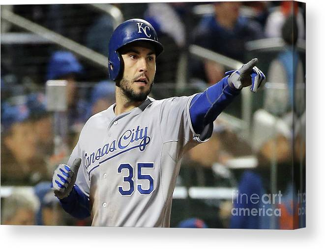 People Canvas Print featuring the photograph Eric Hosmer by Doug Pensinger