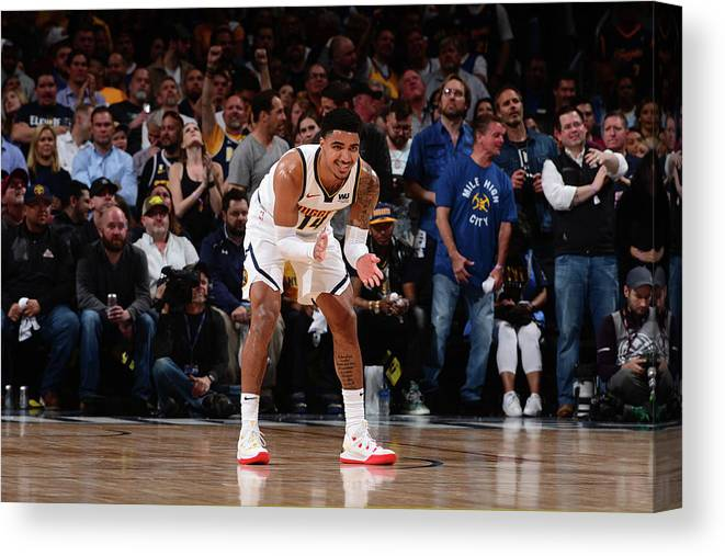 Playoffs Canvas Print featuring the photograph Gary Harris by Bart Young