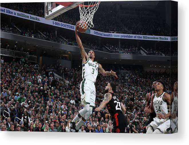 Game Two Canvas Print featuring the photograph George Hill by Nathaniel S. Butler