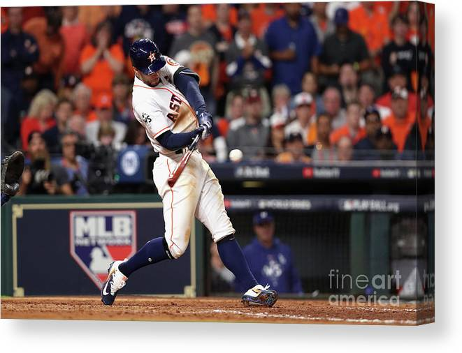 People Canvas Print featuring the photograph George Springer by Christian Petersen