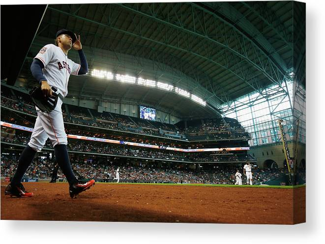 People Canvas Print featuring the photograph George Springer by Scott Halleran