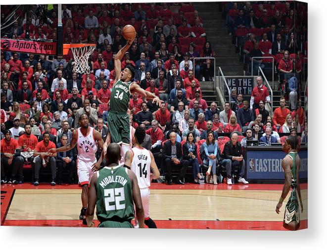 Playoffs Canvas Print featuring the photograph Giannis Antetokounmpo by Jesse D. Garrabrant