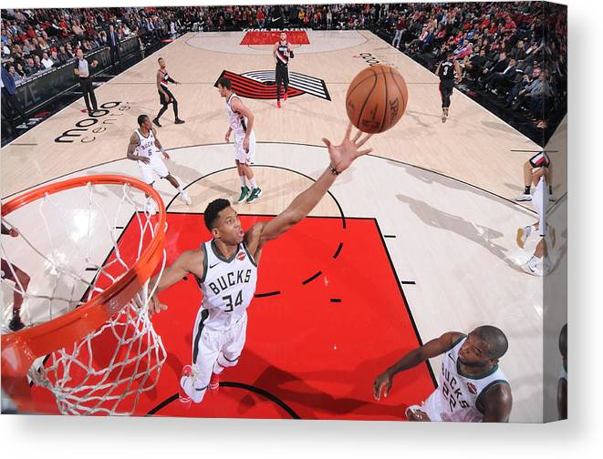 Nba Pro Basketball Canvas Print featuring the photograph Giannis Antetokounmpo by Sam Forencich